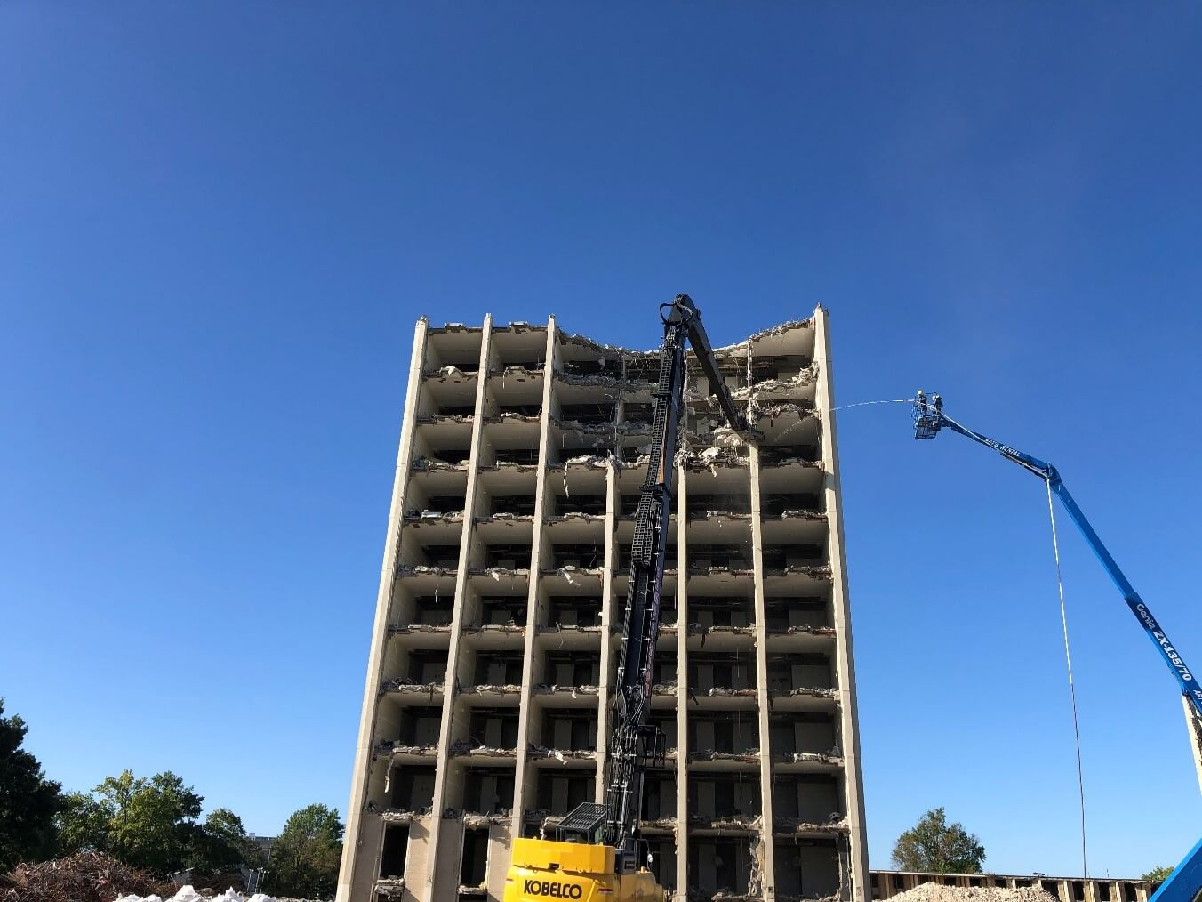 Kirwan Tower at the University of Kentucky (UK) in Lexington, kentucky university construction and demolition