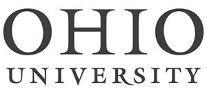 Ohio University Logo in Black and White