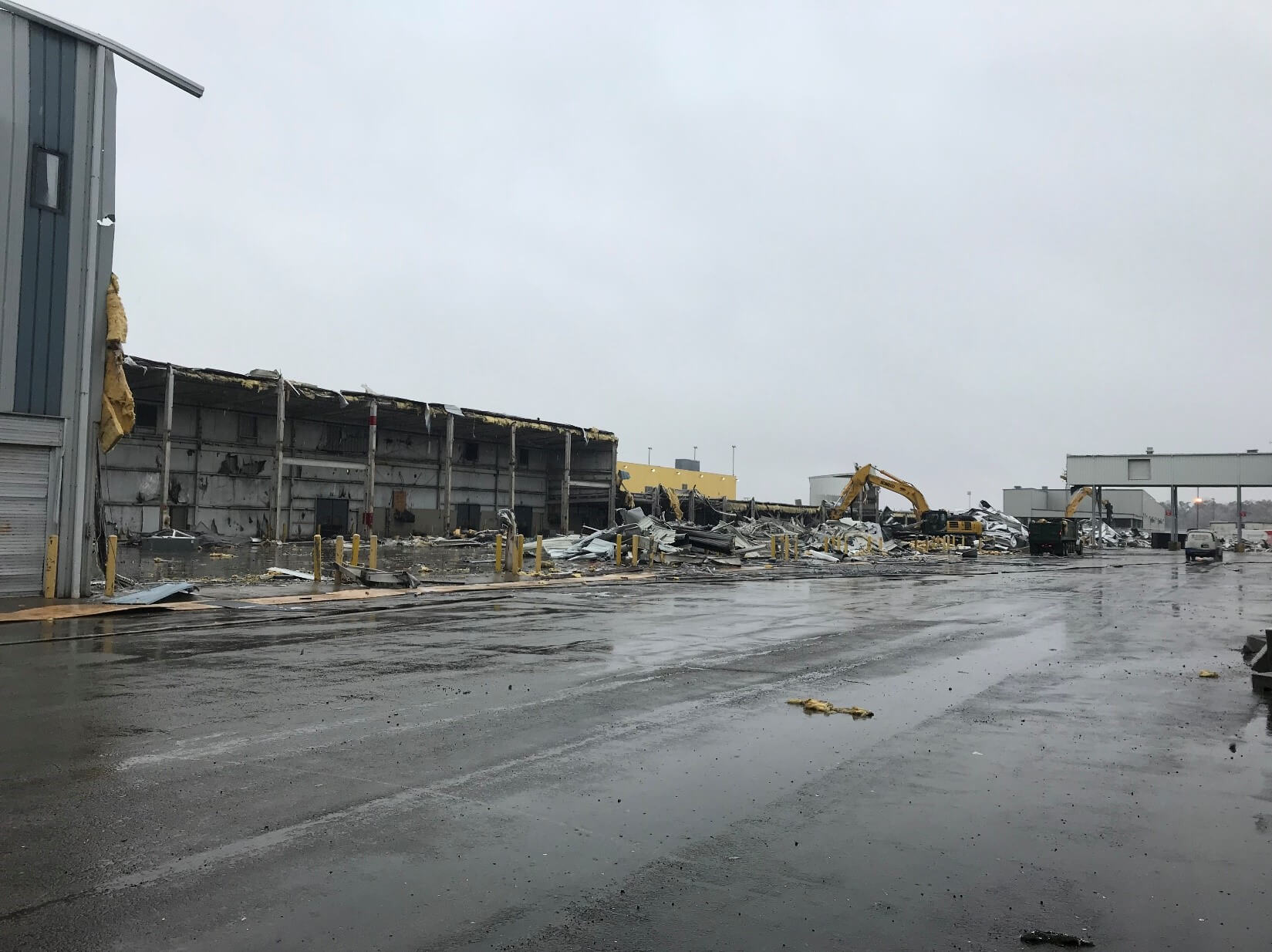 Building Demolition at Amazon for Project Indigo in Northern Kentucky