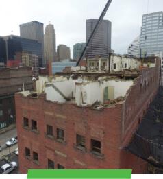 Dennison Hotel Demolition and Construction by Sunesis Environmental in Cincinnati, Ohio